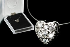 Buy Now: 40-- CUBIC ZIRCONIA HEART NECKLACE-- $2.49 PCS