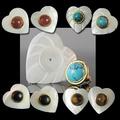 Liquidation/Wholesale Lot: 40 prs-- Genuine Stone w/Mother Of Pearl earrings $2.99 pr