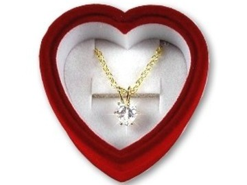 Buy Now: 50-- 3 carat weight-- CZ Heart Pendant Necklace $1.99 pcs