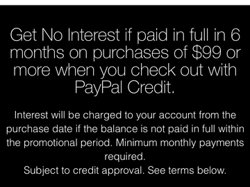 Announcement: Now apply for credit on your purchase! 6 Months NO interest!