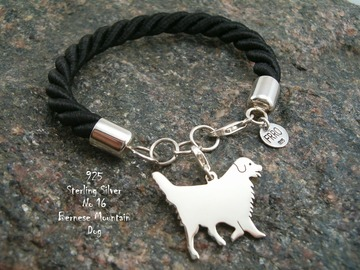 Selling: Bracelet Bernese Mountain Dog * 925 silver sterling