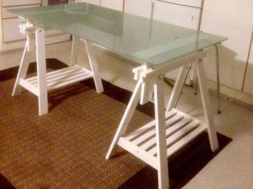 Myydään: Glass table +legs