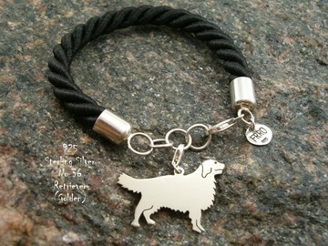 Selling: Bracelet Golden Retriever  * 925 silver sterling