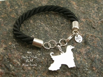 Selling: Bracelet  Afghan Hound * 925 silver sterling