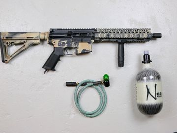 Selling: Tippmann M4 CQBR MK18 Gas Blowback HPA Airsoft Gun Package