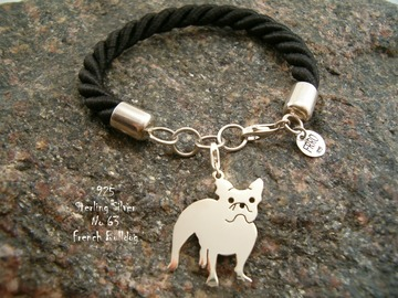 Selling: Bracelet  French Bulldog * 925 silver sterling