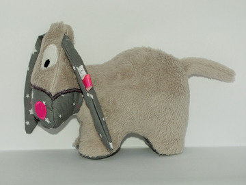 Sale retail: Petit âne gris - gris étoilé