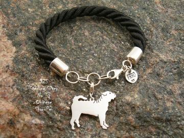 Selling: Bracelet  Shar Pei * 925 silver sterling
