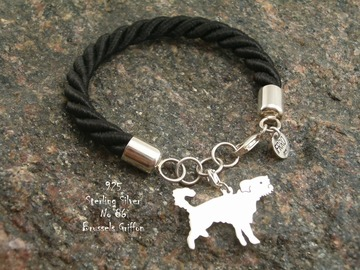 Selling: Bracelet Brussels Griffon  * 925 silver sterling