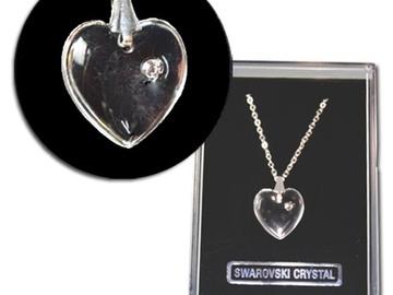 Liquidation/Wholesale Lot: 50-- Swarovski Heart Pendant  Necklace in Gift Box-- $1.99 ea!