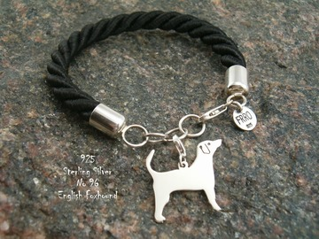 Selling: Bracelet  English Foxhound * 925 silver sterling