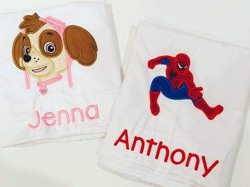 Book & Pay Online (per party package rental): Custom birthday shirt