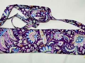 Vente au détail: Bouillotte sèche-bandeau violet fleuri - création originale