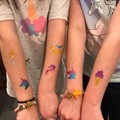 Request To Book & Pay In-Person (hourly/per party package pricing): Glitter Tattoos- Body Art by Natalie