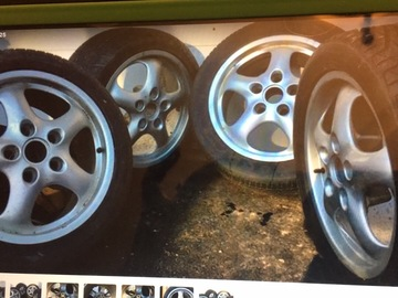 Selling: PORSCHE/VW RIMS AND TIRES. RIMS GOOD CONDITION, TIRES ARE WORN