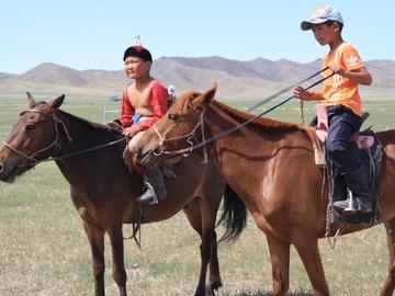 Réserver (avec paiement en ligne): Equitation dans la steppe, visite chez les nomades - Mongolie