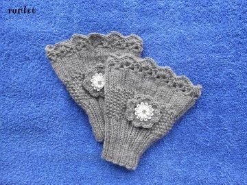 Vente au détail: mitaines en laine au crochet