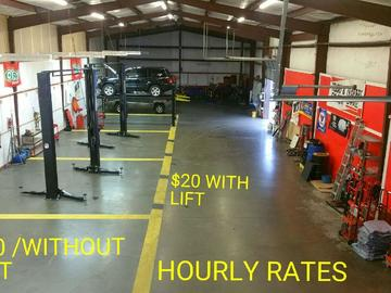 Hourly: Garage Space Available