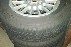 """Selling: BMW E36 15"""" with like new snow tires"""
