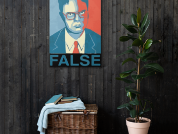 Selling: Dwight Schrute Art Canvas (24x36)