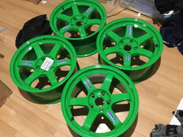 Selling: Volk Racing TE37 17x9+22 TAKATA Green