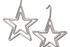 Buy Now: 40 prs-- Sterling Silver Lg. Star Earrings--  $2.49  pair