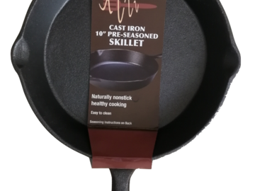Buy Now: Pre-Seasoned Cast Iron Skillets - New
