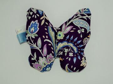 Vente au détail: Bouillotte sèche - Papillon violet - création originale