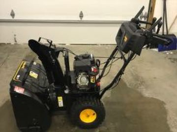Renting out equipment (w/o operator): Poulon Pro 208cc  Gas Dual-Stage Snow Blower, PR 270