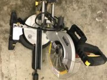 Renting out equipment (w/o operator): Chicago Electric 10-inch sliding compound miter saw