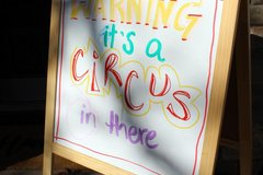 Request To Book & Pay In-Person (hourly/per party package pricing): Circus Party