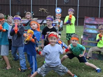 Request To Book & Pay In-Person (hourly/per party package pricing): Nerf War Party