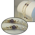 Buy Now: 50--Genuine Biwa Pearl w/Genuine Amethyst beads bracelet $1.99 ea