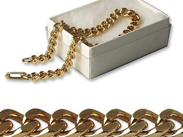 "Buy Now: 100-- Men's Pure goldtone Link Bracelet 8"" in gift box- $.99 pcs"
