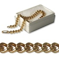 "Buy Now: 100-- Men's Pure goldtone Link Bracelet 8"" in gift box- $.99 pcs"
