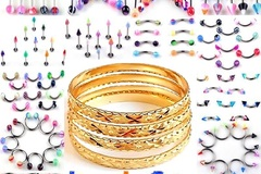Buy Now: 600-Mix-Body Jewerly, Micron Plated, Gold Finish Bangles/Bracelet