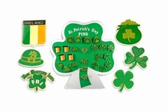 Buy Now: 240 pcs- St. Patrick's Day Lapel Pins  w/display card-  $.40 pcs