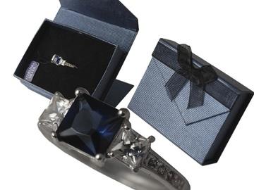 Buy Now: 20 pcs--Genuine Sterling Silver w/Blue Sapphire CZ Rings-$4.99 ea