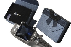 Buy Now: 20 pcs--Genuine Sterling Silver w/Blue Sapphire CZ Rings-$4.99 ea