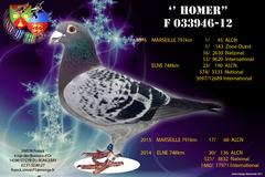 """Vente avec paiement en ligne: """"HOMER"""" 16é Nat 53é Inter MARSEILLE 2016"""
