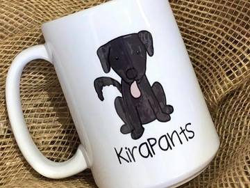 Selling: Personalized Dog Mug