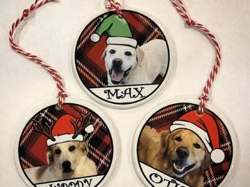 Selling: Dog Christmas Ornaments