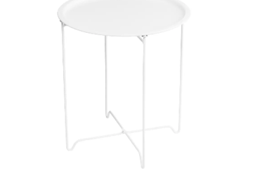 Selling: Tray table Ø 45 cm, white