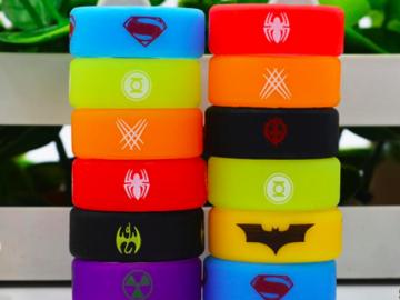 Buy Now: Custom Vape Rubber Silicone Band - Superhero Logos (1000)