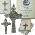 Buy Now: 25 pcs-- Canterbury Pewter Cross Necklaces --$3.99 ea