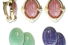 Buy Now: 30 sets-- Genuine Scarab Clip Earrings-Interchangeable- $3.50 set