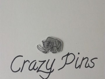 Sale retail: PIN'S RHINO