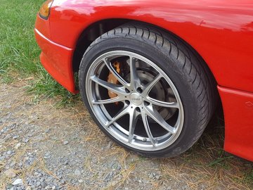 Selling: Rays 5x114 25 offset, 18x9, excellent condition 90+ tires