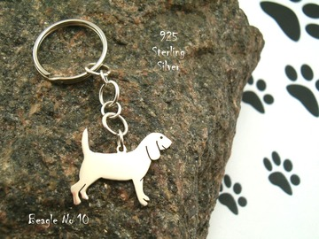 Selling: Keyring Beagle * 925 sterling silver