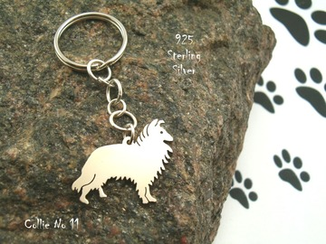 Selling: Keyring Collie * 925 sterling silver